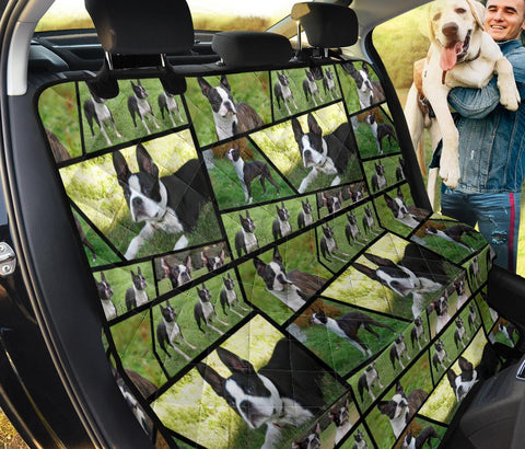 Boston Terrier Collage Print Pet Seat Covers