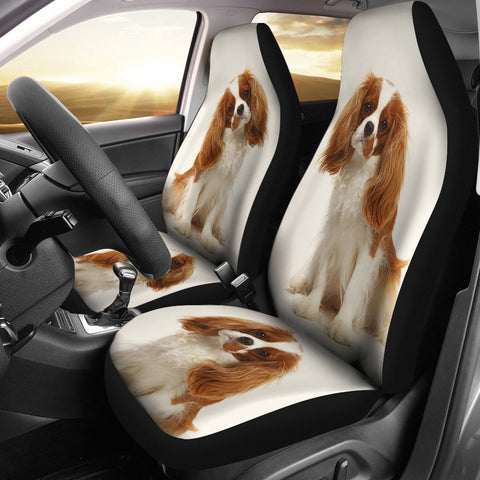 Cavalier King Charles Spaniel Print Car Seat Covers