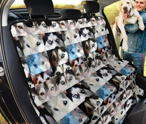 Siberian Husky Eyes Print Pet Seat Covers