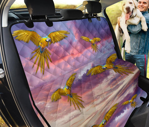 Blue-and-Yellow Macaw Print Pet Seat Covers
