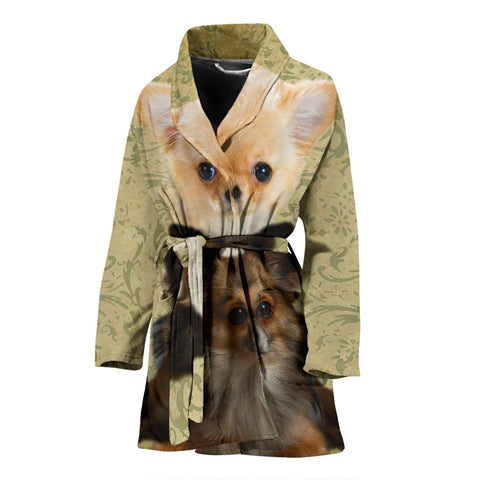 Cute Chihuahua Print Women's Bath Robe