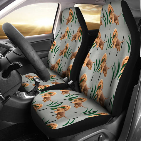 Bloodhound Dog Patterns Print Car Seat Coves