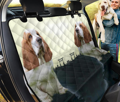Basset Hound Dog Print Pet Seat Covers