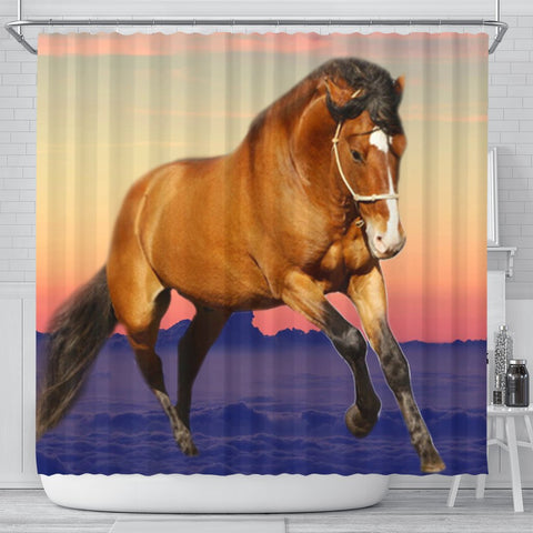 Belgian horse Print Shower Curtain