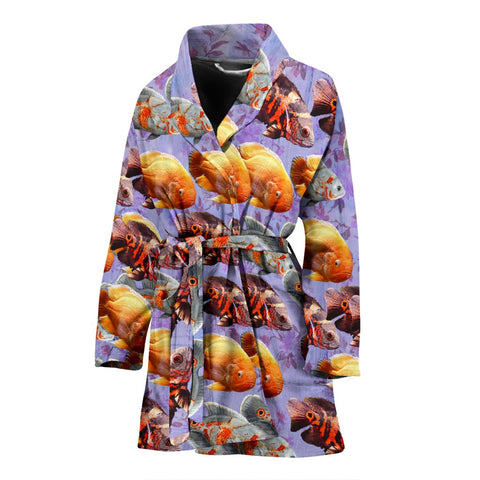 Oscar Fish Print Women's Bath Robe