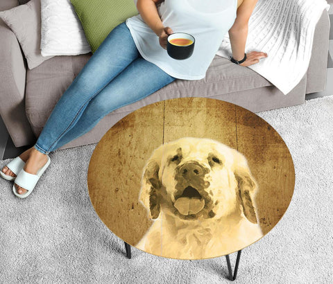 Clumber Spaniel Print Circular Coffee Table