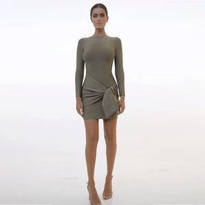 Up to 90%Off Big Sale!!!Ocstrade 10th Anniversay Shopping Festival!2020 Summer High Quality Women Sexy Green Bandage Dress