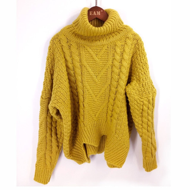 LANMREM autumn autumn  2020 solid color hot sale turtleneck long sleeve knitting pullover keep warm sweater  women M41003