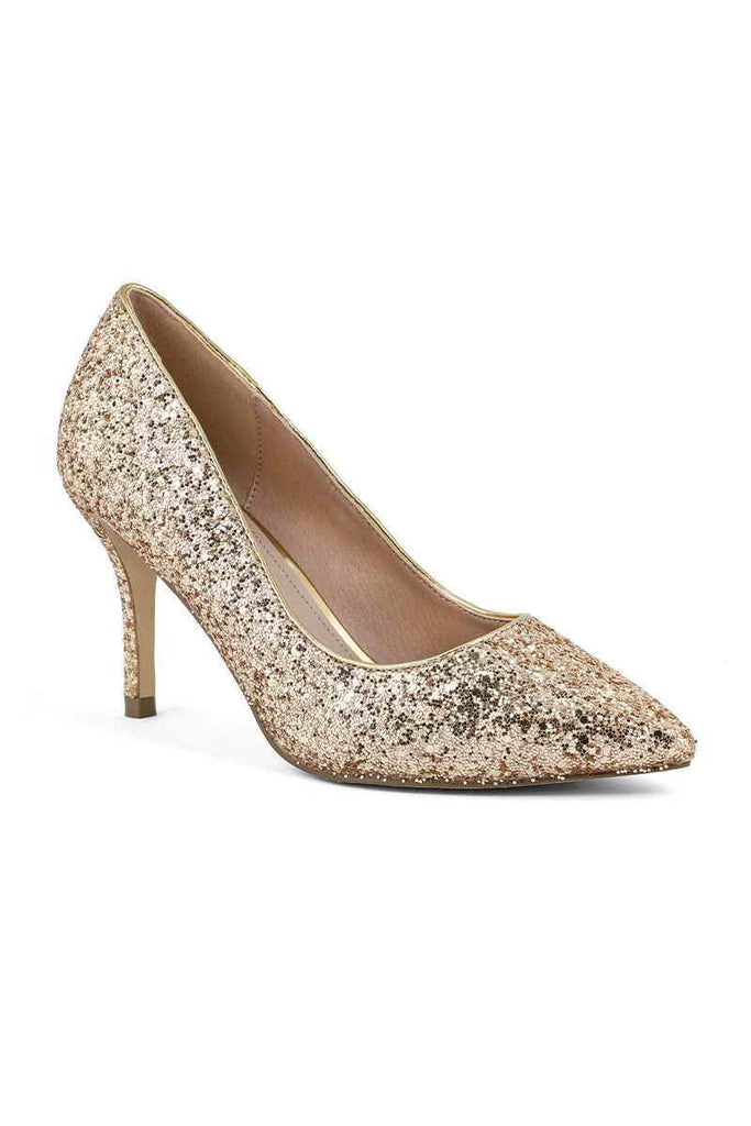 Fancy Court Shoes I44271-Golden