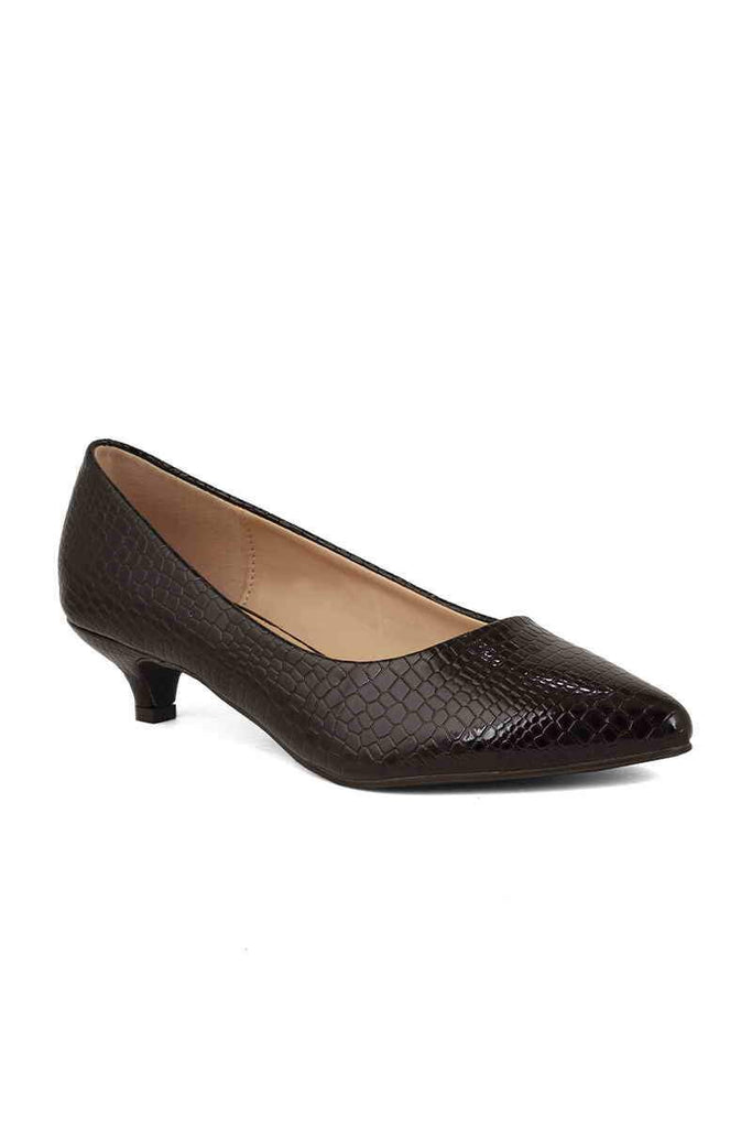 Formal Court Shoes I44277-Coffee