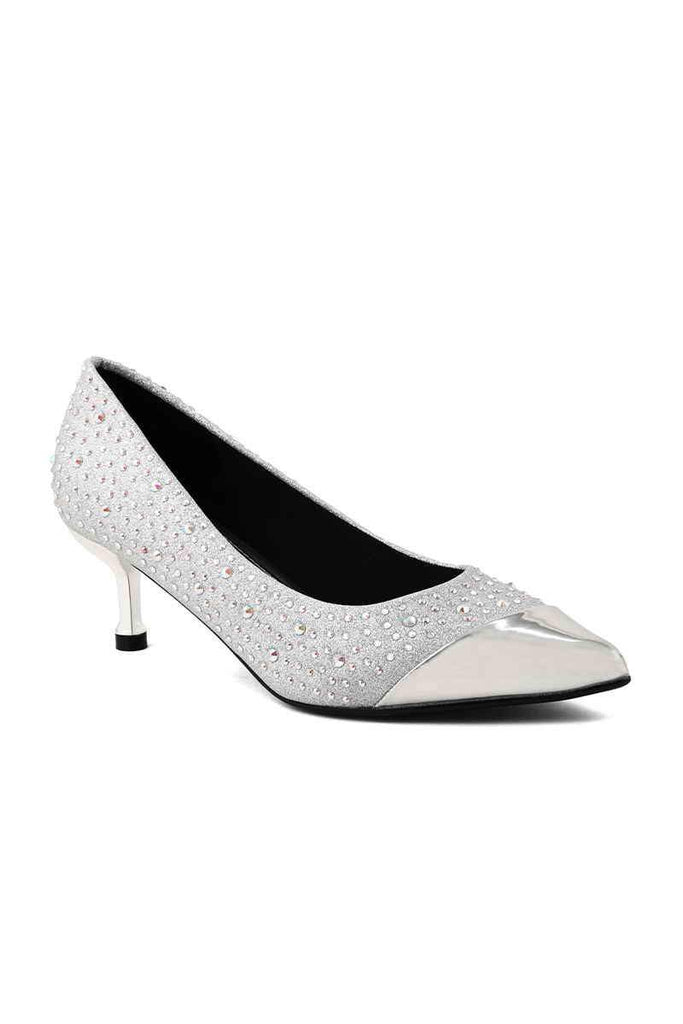 Fancy Court Shoes I44269-Silver