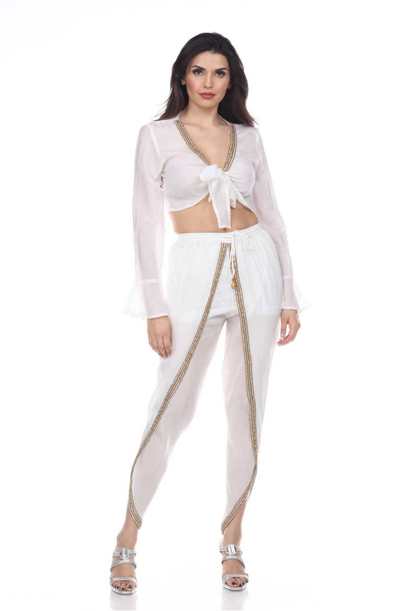 Tie Top and Pants Set