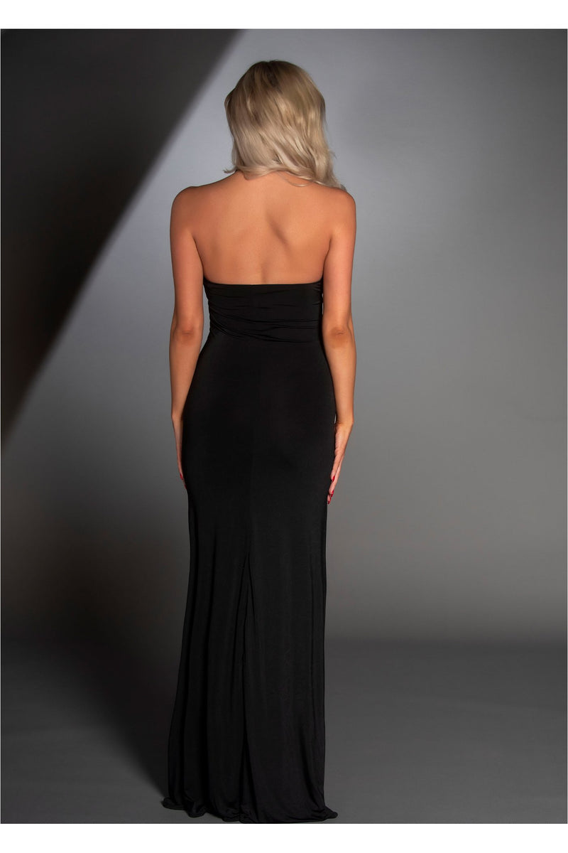 High Slit Bodycon Maxi Dress