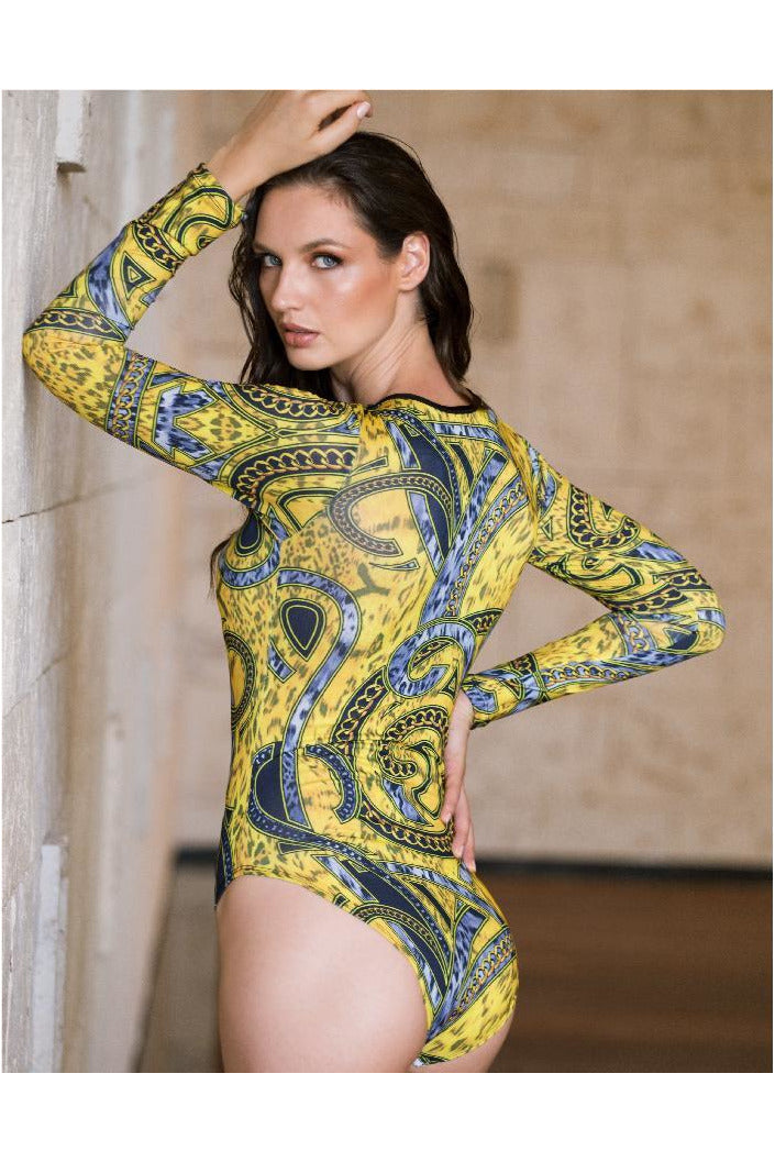 Baccio Couture Belinda Long Sleeve Bodysuit