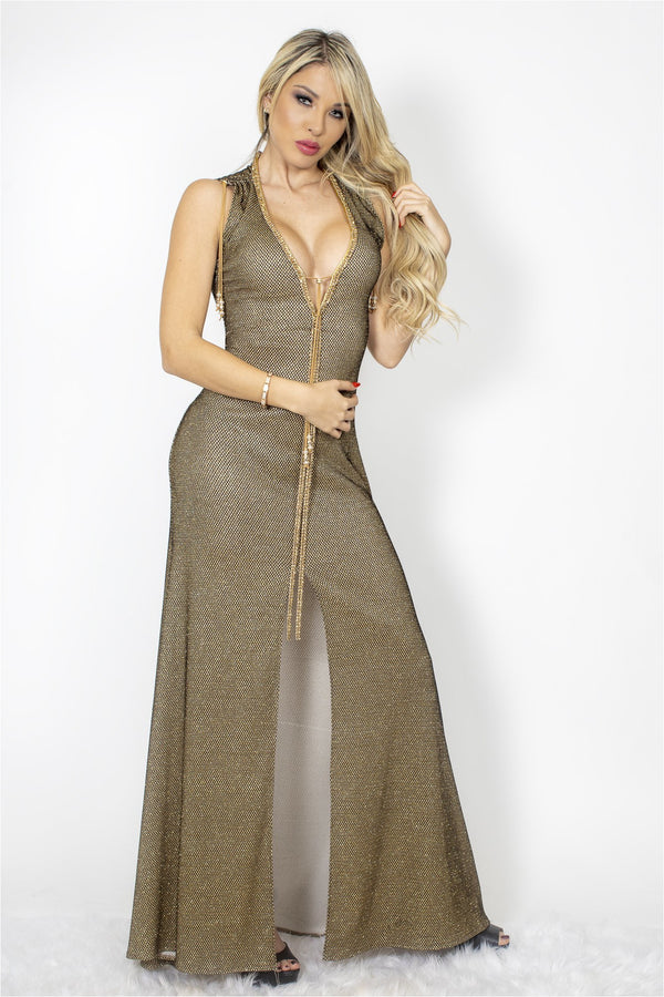 Susan Metallic Maxi Dress