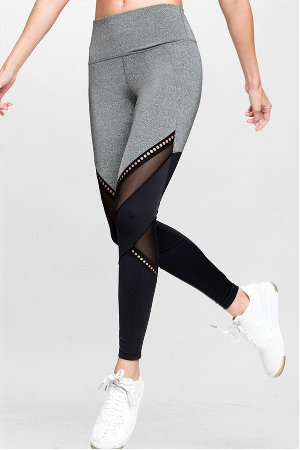 Get in the Ring 7/8 Black and Grey Sports Legging