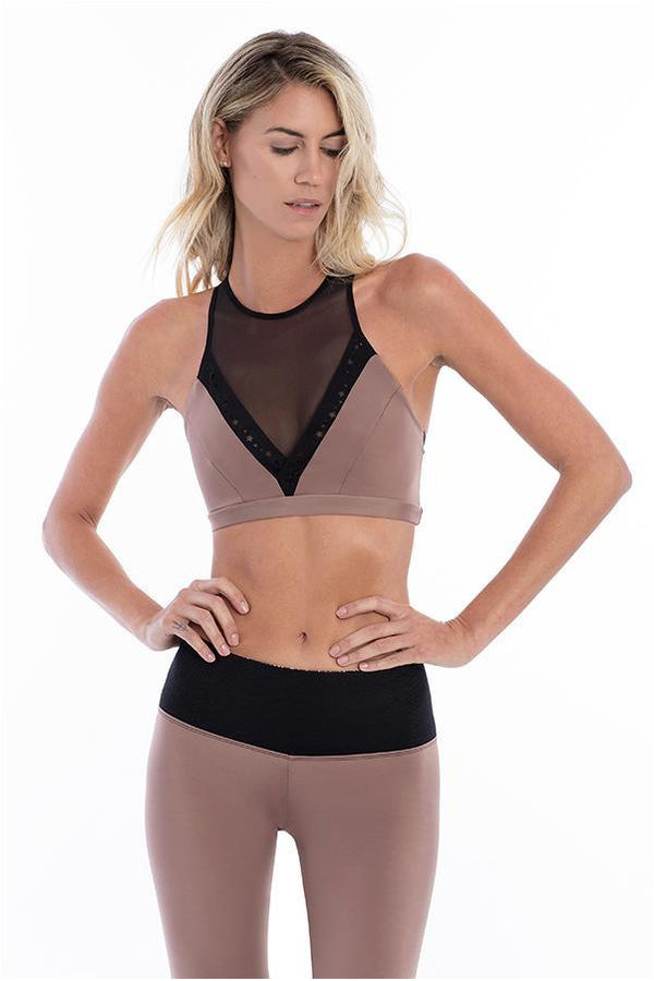 Astral Black Cocoa Sports Bra