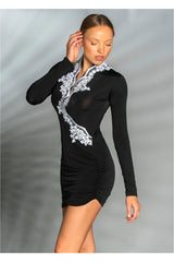 Wrap Mini Dress
