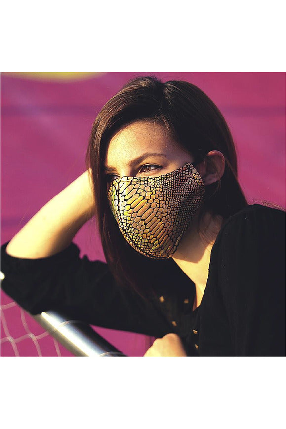 Gold Snake Face Mask