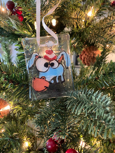 Elmer the Donkey - Hand Painted Glass Ornament