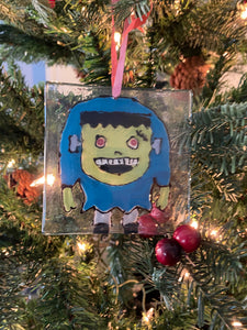 Frankenstein - Hand Painted Glass Ornament