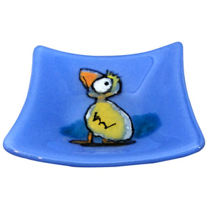 Duck, Duck, Goose - Fused Glass Plate