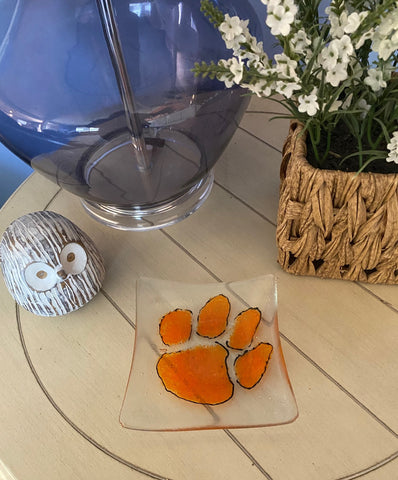Clemson Power  - Fused Glass Candy Dish