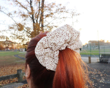 Load image into Gallery viewer, Splash Oversized Scrunchie in Cream
