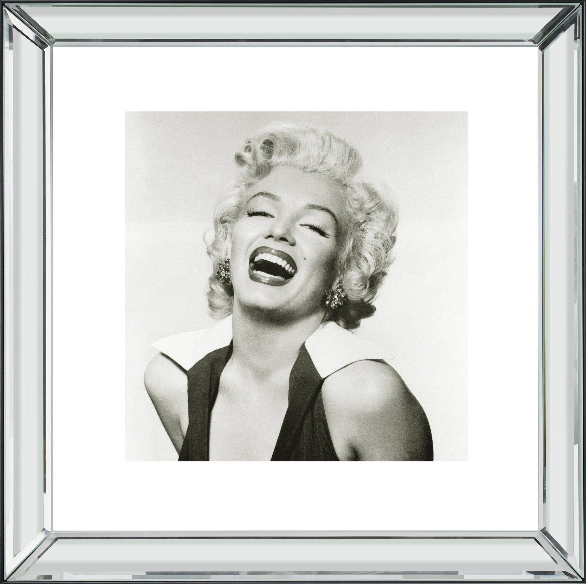 Marilyn Monroe Laughing Mirror Frame Picture