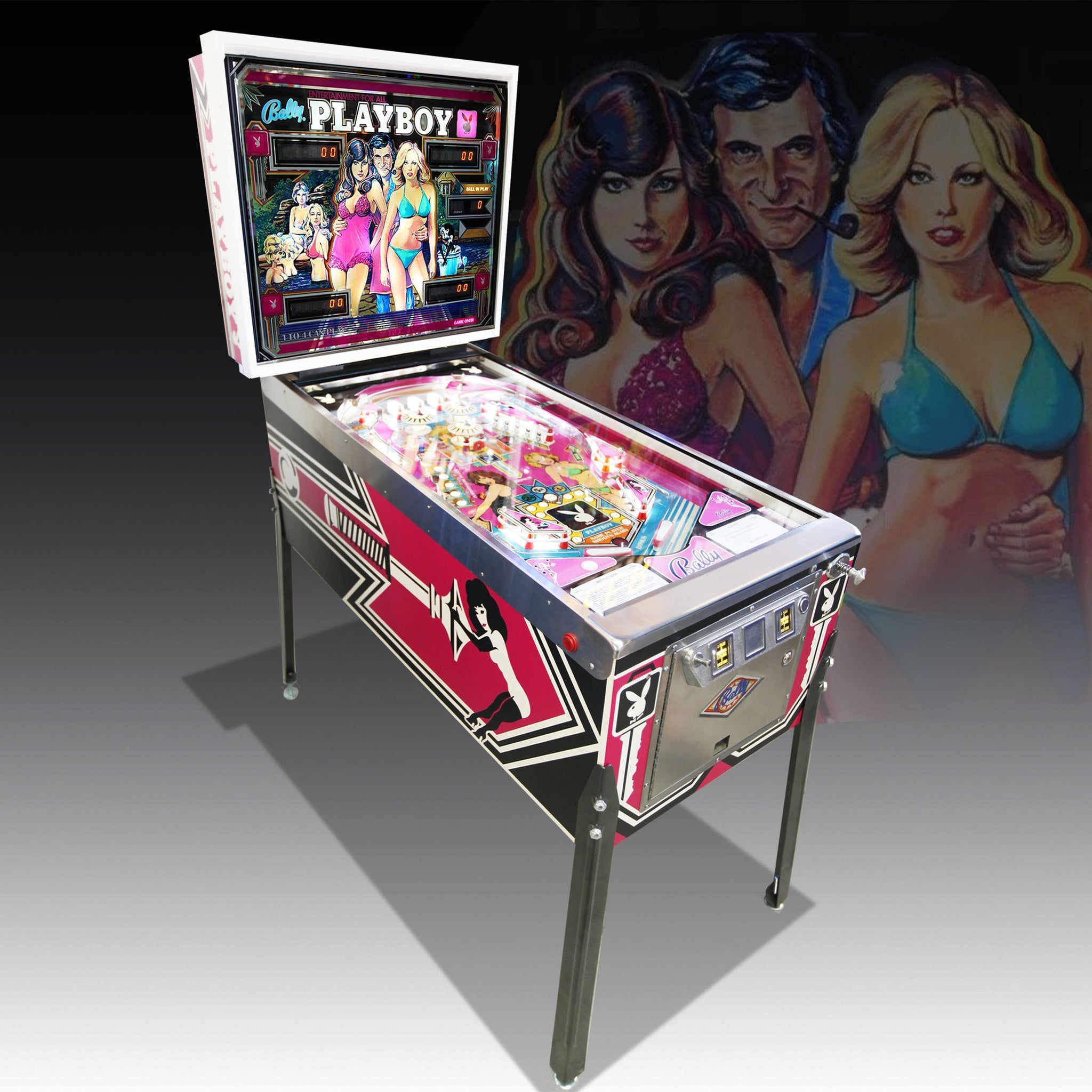 Vintage Playboy Pinball Machine by Bally