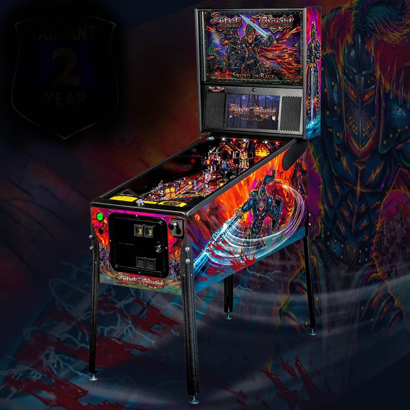 Black Knight Sword of Rage Premium Pinball Machine