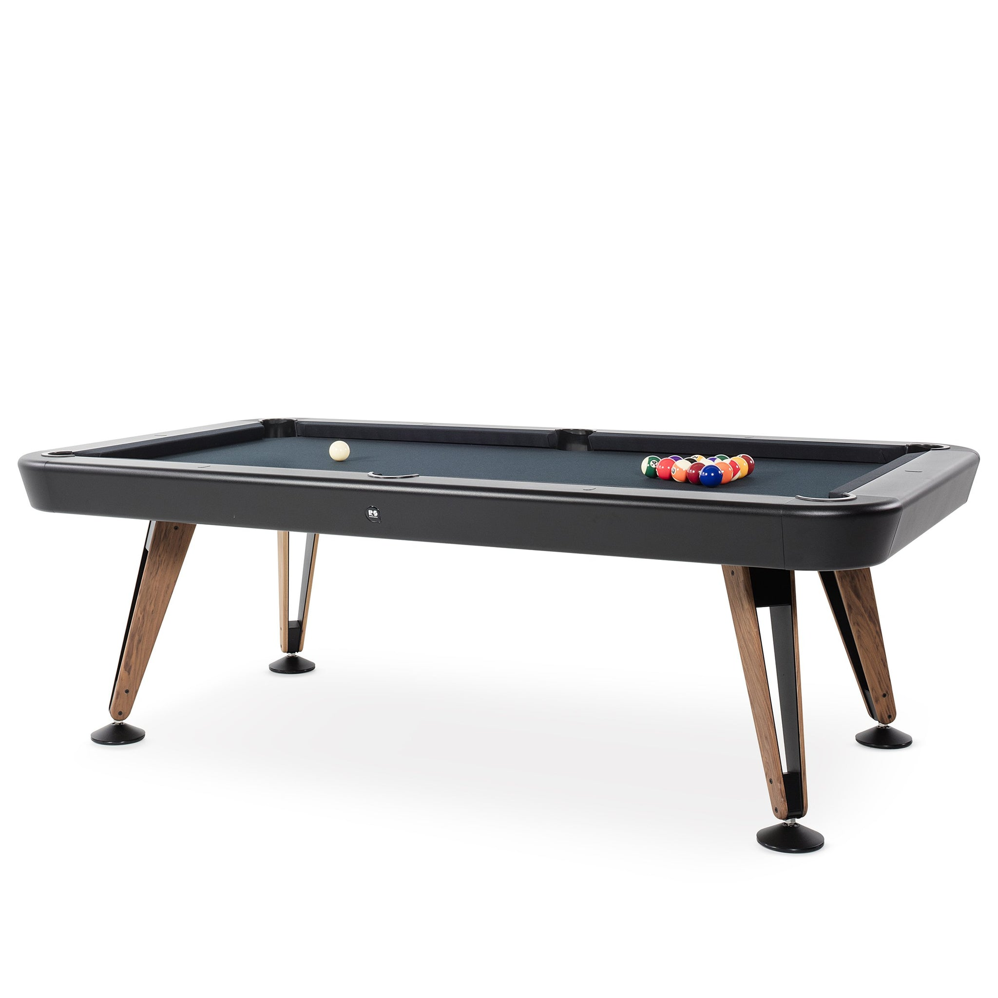 Diagonal American Pool Table in Black 7ft, 8ft
