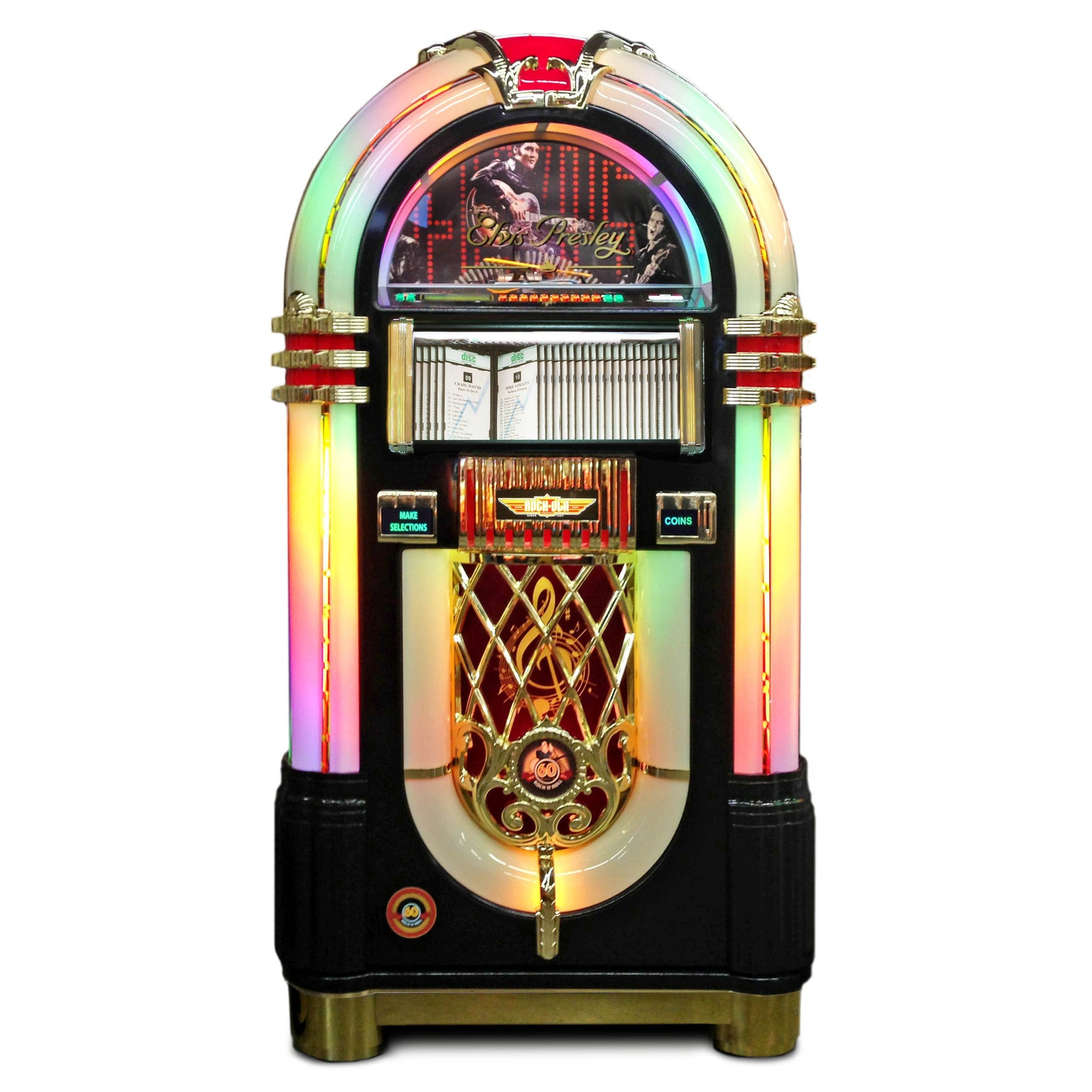 Rock-Ola Bubbler Elvis CD Jukebox Black