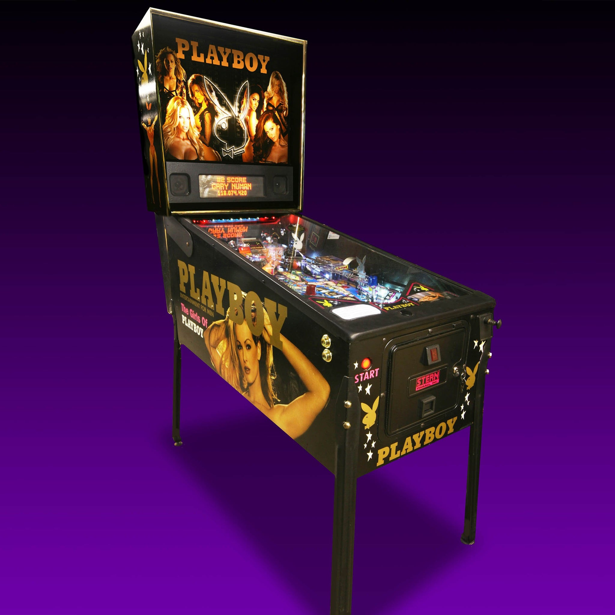 Vintage Playboy Pinball Machine by Stern