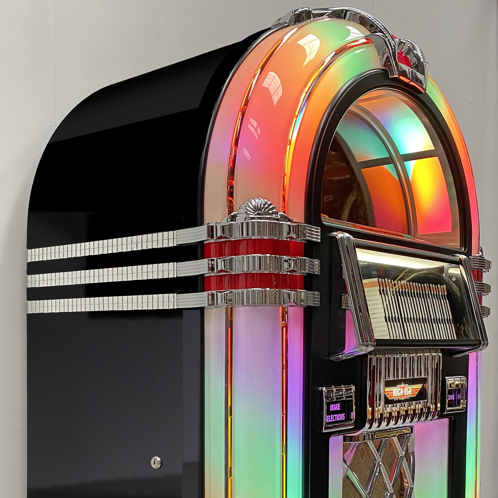 Rock-Ola Bubbler CD Jukebox in Gloss Black