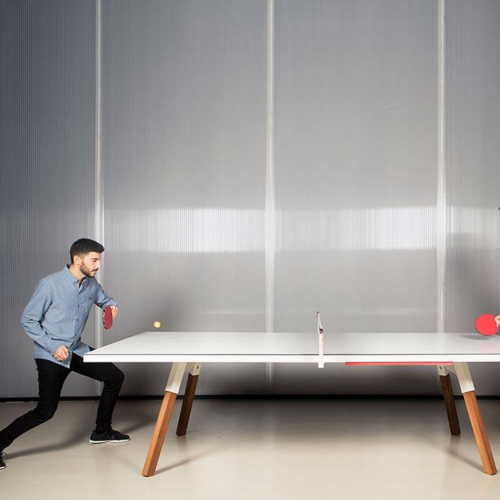You and Me Tournament Size Table Tennis in White