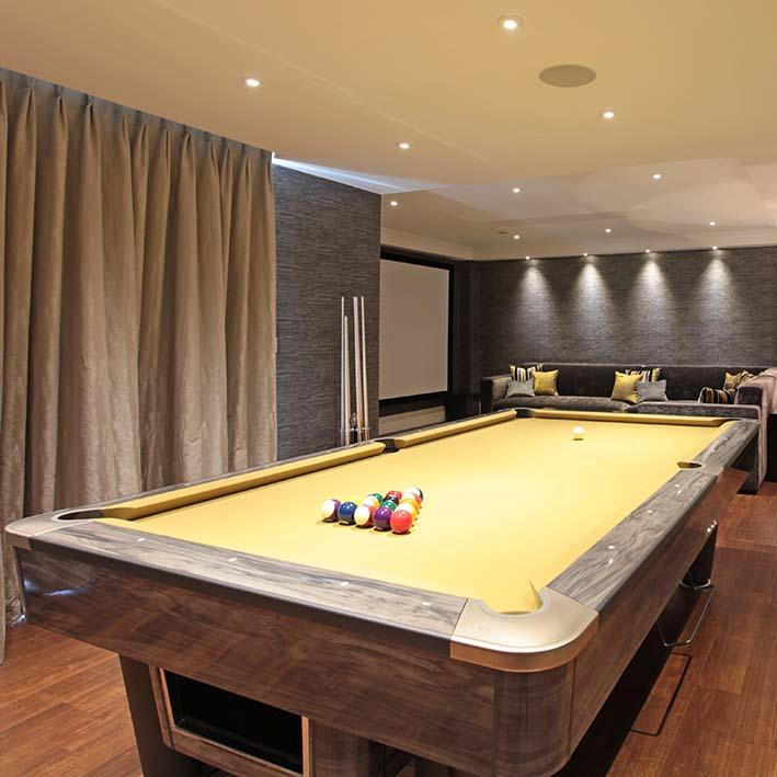 American Tournament Pool Table in Grey Vogue 8ft