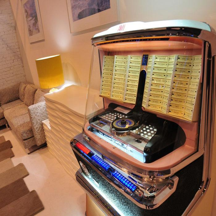 1957 AMI H 200 Vinyl Jukebox 'Coming Soon'