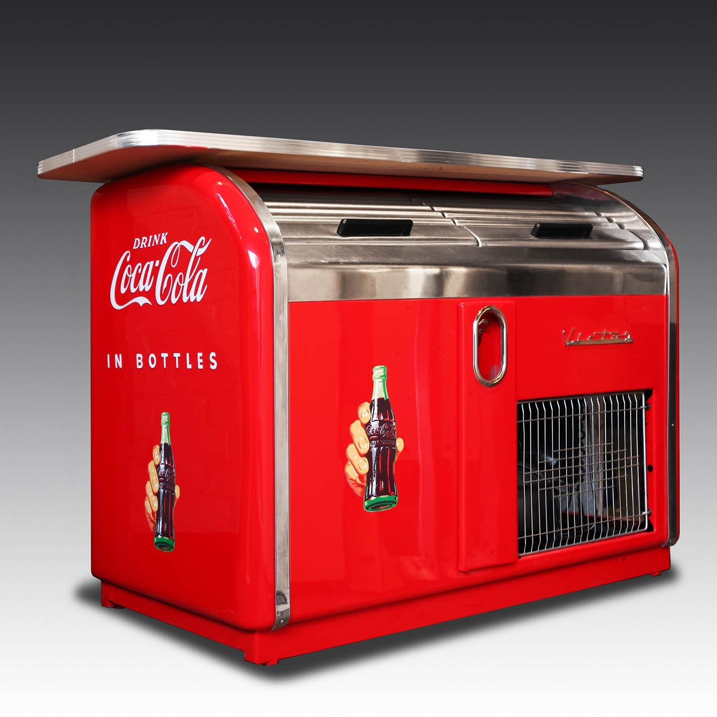 1950's Victor 2 Drawer Coca-Cola Bar