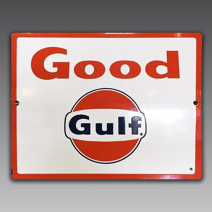 Good Gulf vintage enamel sign