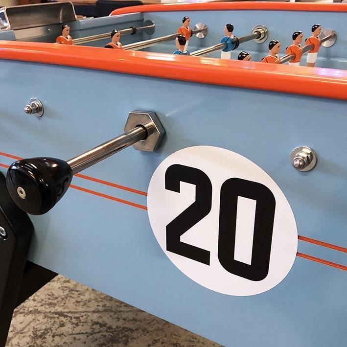 Sulpie Foosball Table in Gulf Racing Livery