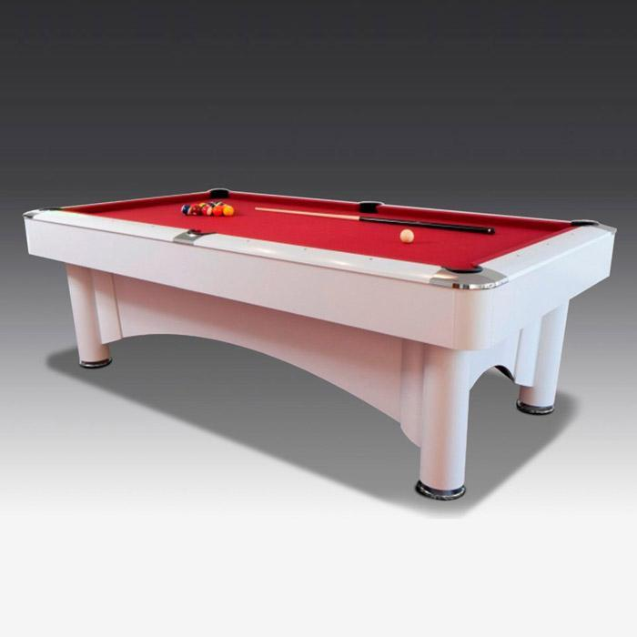 Ice White 8ft American Pool Table