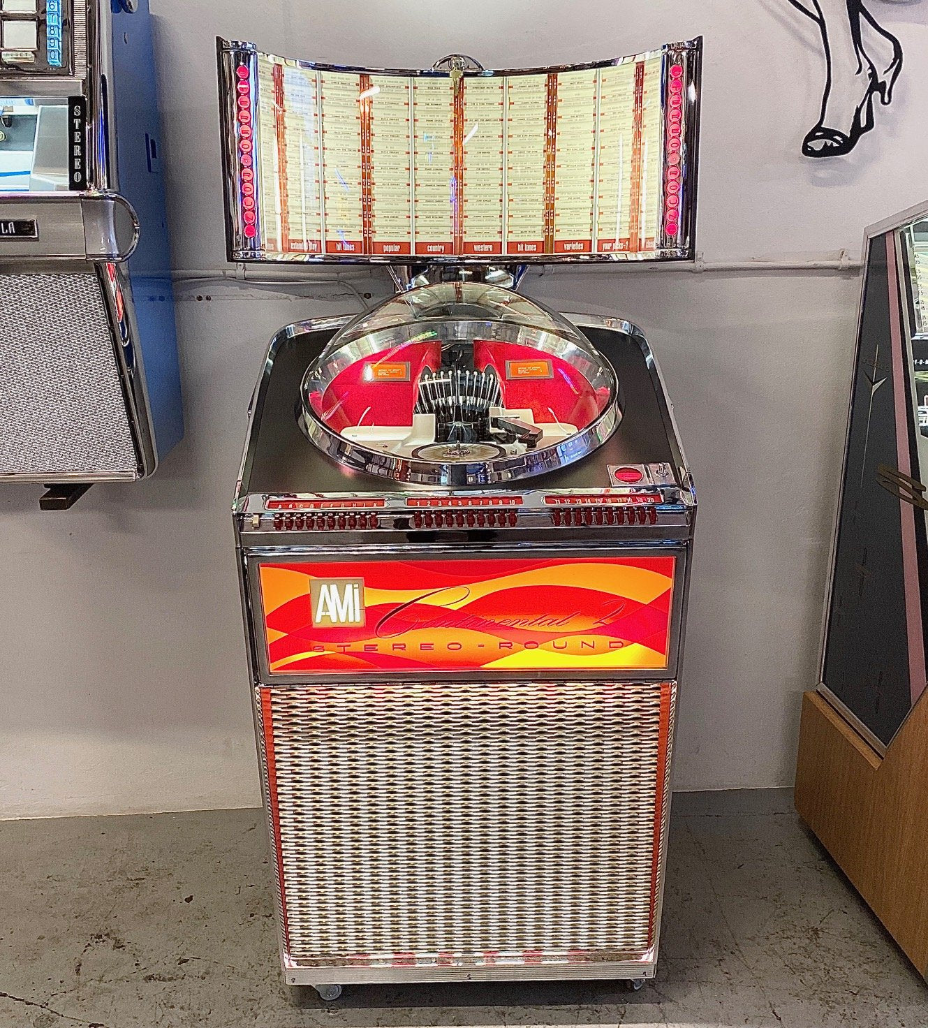 1962 AMI II Continental 200 Vinyl Jukebox