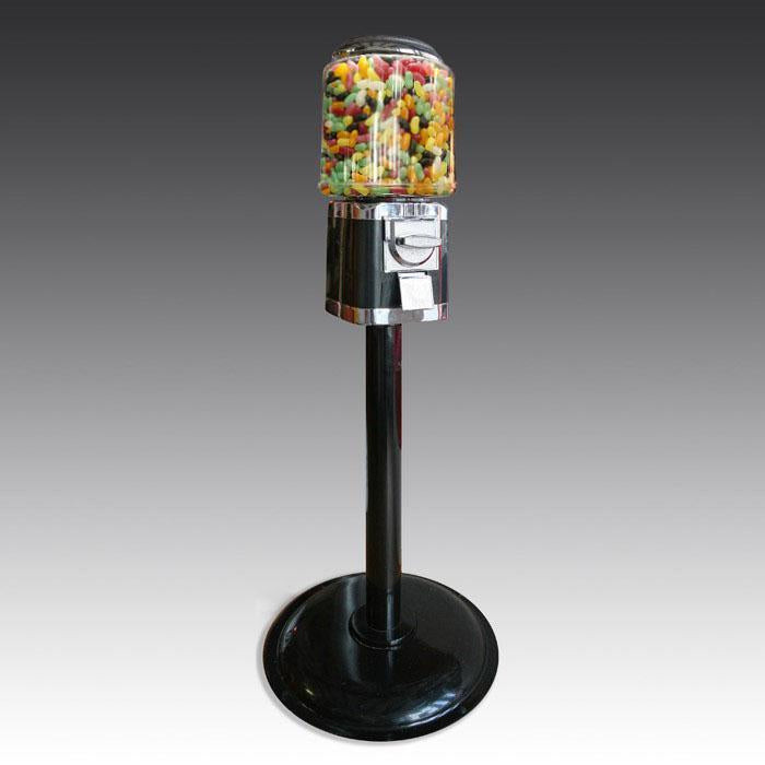 Jelly bean machine in black and chrome