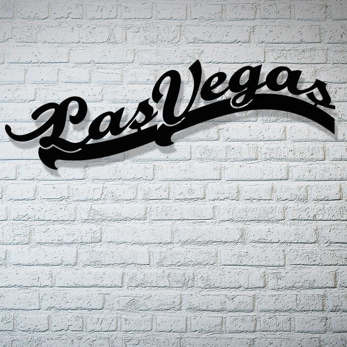 Las Vegas Waterjet Cut Metal 3D Artwork