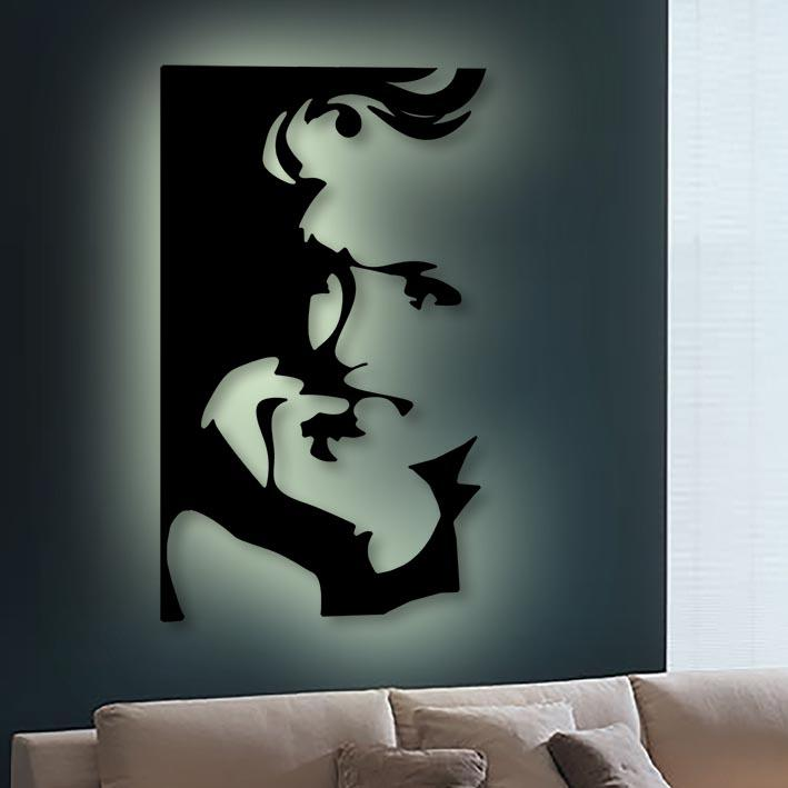 'Face of an Icon' Waterjet Cut Limited Edition 3D artwork