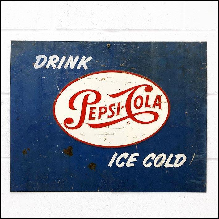 Pepsi Cola Vintage Metal Sign