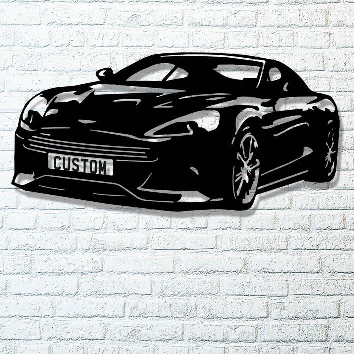 Aston Martin DB9 Waterjet Cut Artwork Demonstration Model
