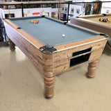 'Exclusive' Sam Leisure Virginia English Pool Table in Country Oak