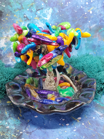 Knitted and Twisted - Twisted Tree's - Rainbow Beads Lite Up Tree